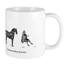 Descartes before de horse Small Mug