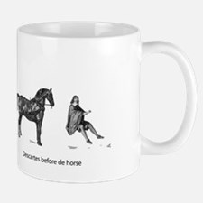 Descartes before de horse Small Small Mug
