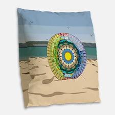 Summer Sunshine Burlap Throw Pillow