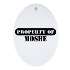 Property of Moshe Oval Ornament