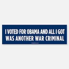 Another War Criminal Bumper Bumper Bumper Sticker