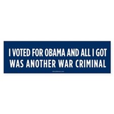 Another War Criminal Bumper Bumper Sticker