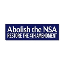 Abolish the NSA Car Magnet 10 x 3