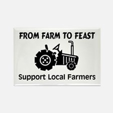 Support Farmers From Farm To Feast Rectangle Magne