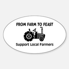 Support Farmers From Farm To Feast Sticker (Oval)