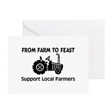 Support Farmers From Farm To Feast Greeting Card