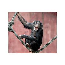 Chimpanzee001 Throw Blanket