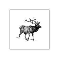 Elk - Wapiti (line art) Sticker