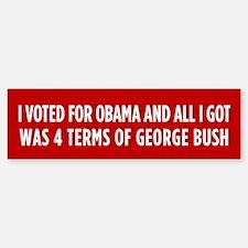 4 Terms Of Bush Bumper Bumper Sticker