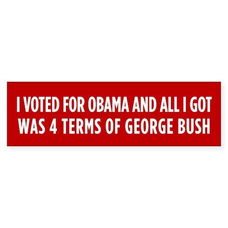 4 Terms Of Bush Sticker (Bumper)