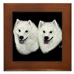 American Eskimo Framed Tile