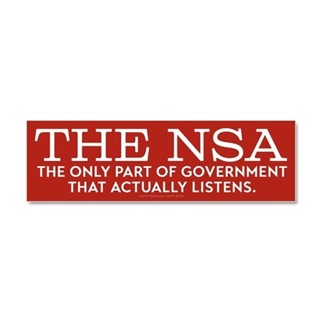 The NSA Car Magnet 10 x 3