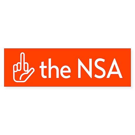 F The NSA Bumper Sticker
