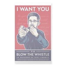 Snowden Whistle Blower Decal