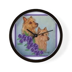 Australian Terriers Wall Clock
