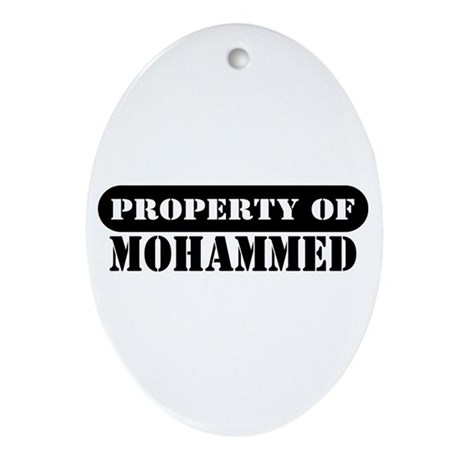 Property of Mohammed Oval Ornament