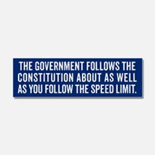 Constitution and Speed Limit Car Magnet 10 x 3