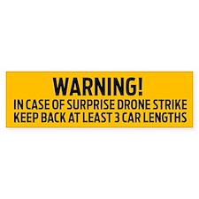Drone Strike Warning Bumper Bumper Sticker