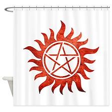 Supernatural Anti-Possession Tattoo Shower Curtain