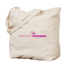 Newtown Kindness Logo White / Pink Tote Bag