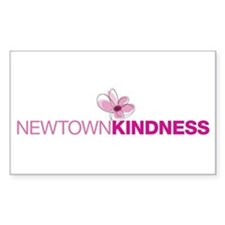 Newtown Kindness Logo White / Pink Decal