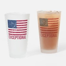 Exceptional American Flag Drinking Glass