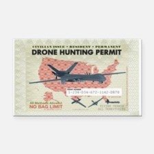 Drone Hunting Permit Rectangle Car Magnet