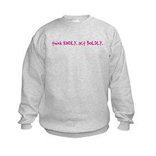 Newtown Kindness Logo White / Pink Sweatshirt