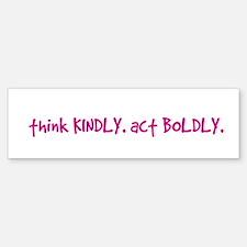 Newtown Kindness Logo White / Pink Bumper Bumper Bumper Sticker