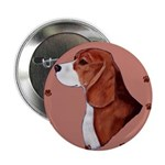Beagle with pawprints Button