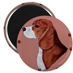 Beagle with pawprints Magnet