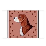 Beagle with pawprints Postcards (Package of 8)