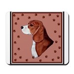 Beagle with pawprints Mousepad