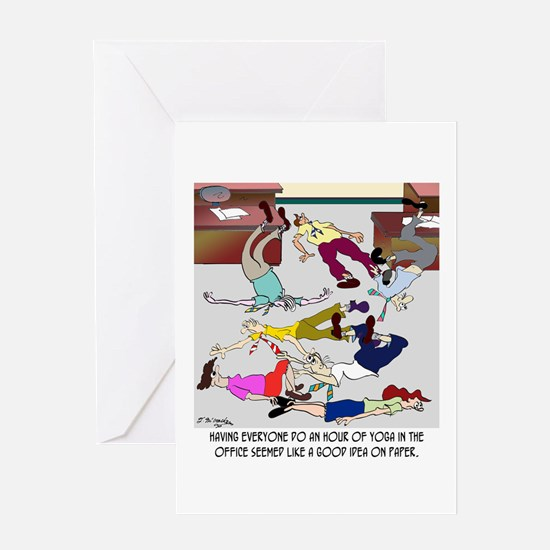 An Hour of Yoga Greeting Card