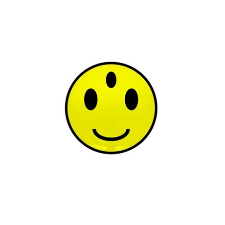 Enlightened Smiley Face Mini Button (100 pack)