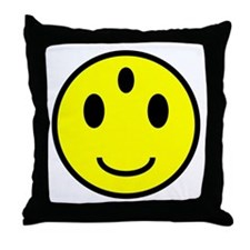 Enlightened Smiley Face Throw Pillow