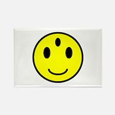 Enlightened Smiley Face Rectangle Magnet