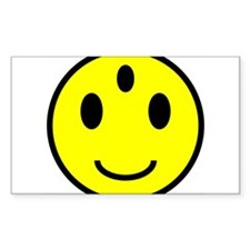 Enlightened Smiley Face Rectangle Decal