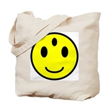 Enlightened Smiley Face Tote Bag