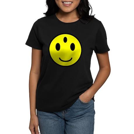 Enlightened Smiley Face Women's Dark T-Shirt
