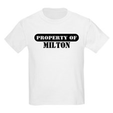 Property of Milton Kids T-Shirt