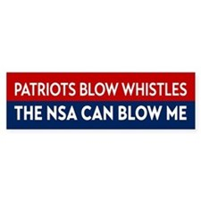 Patriots Blow Whistles Bumper Bumper Sticker