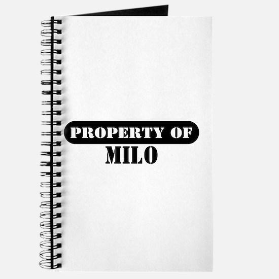 Property of Milo Journal