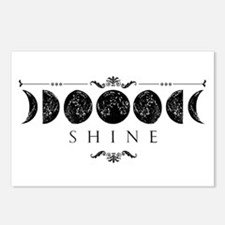 MoonPhases-BLK Postcards (Package of 8)