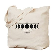 MoonPhases-BLK Tote Bag