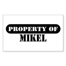 Property of Mikel Rectangle Decal