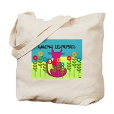 retired librarian cats and flowers throw Tote Bag
