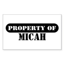 Property of Micah Rectangle Decal