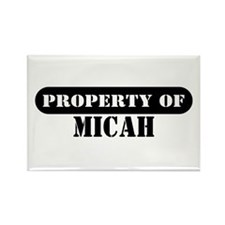 Property of Micah Rectangle Magnet (100 pack)