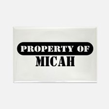 Property of Micah Rectangle Magnet